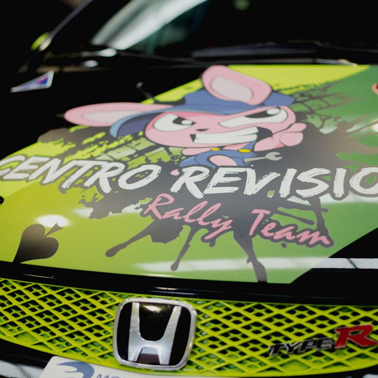 Cofano macchina da corsa CR rally Team