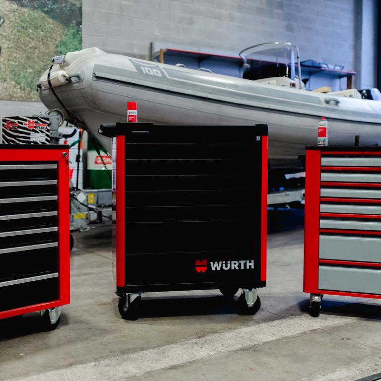 Carrello da officina Stratos Wurth Centro Revisioni Trieste